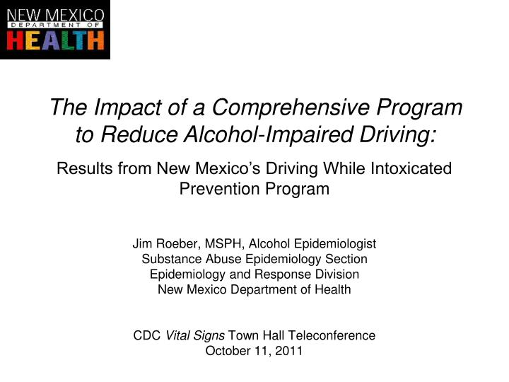 The Impact of a Comprehensive Program