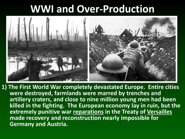 Wwi and over production