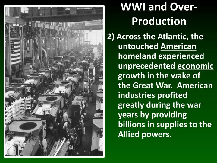 Wwi and over production1