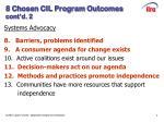 8 chosen cil program outcomes cont d 2