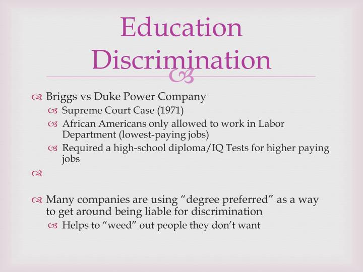 Education Discrimination
