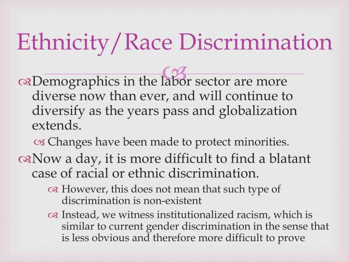 Ethnicity/Race Discrimination