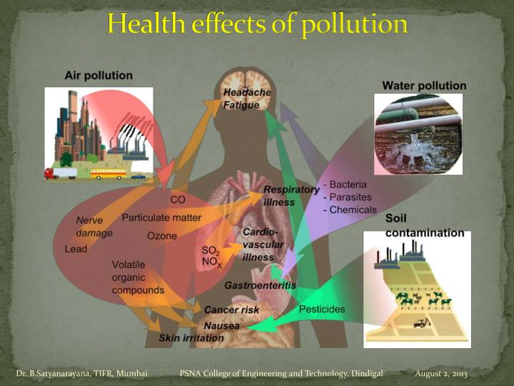 Health effects of pollution