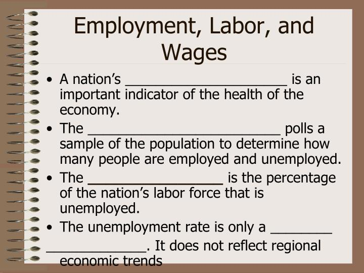 employment labor and wages n.