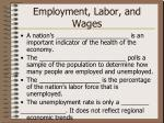 employment labor and wages