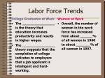 labor force trends