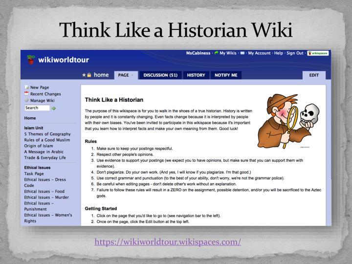 Think Like a Historian Wiki