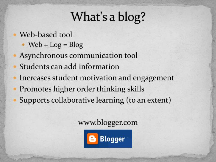 What s a blog