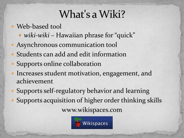 What s a wiki