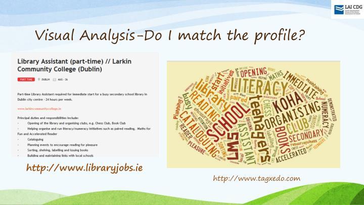 Visual Analysis-Do I match the profile?
