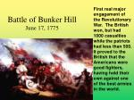 battle of bunker hill june 17 1775