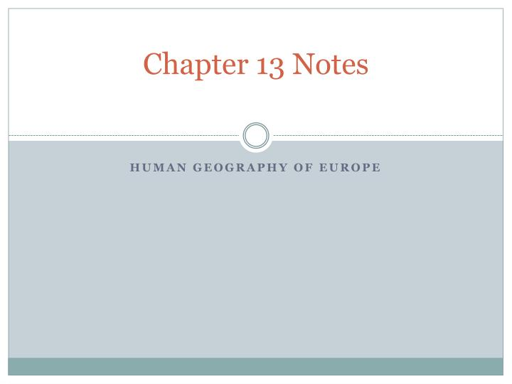 chapter 13 notes n.