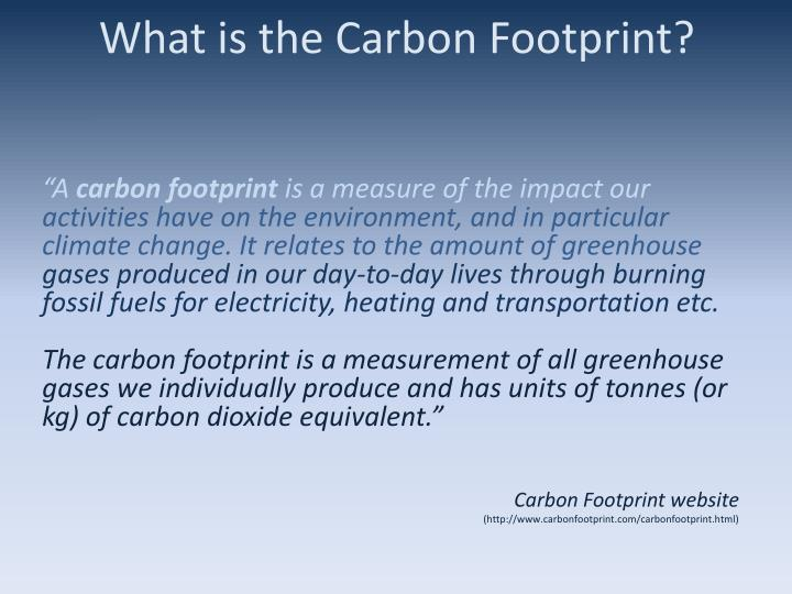 What is the carbon footprint1