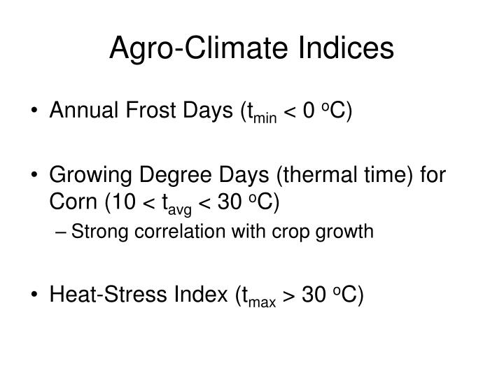 Agro-Climate Indices