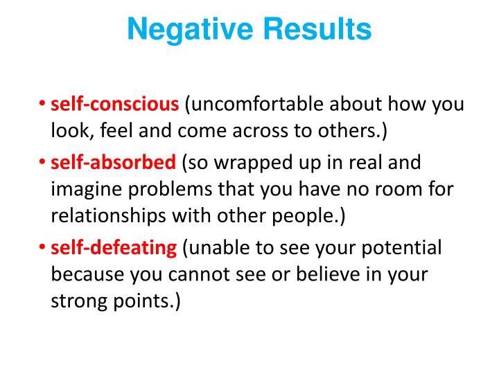 Negative Results