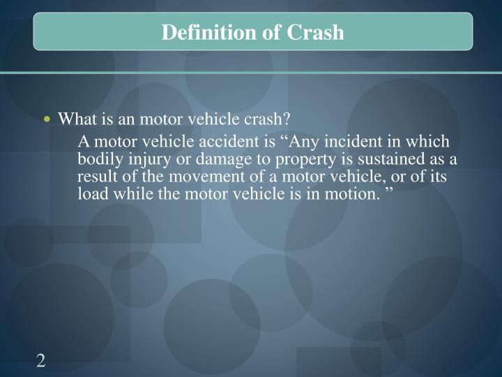 Definition of Crash
