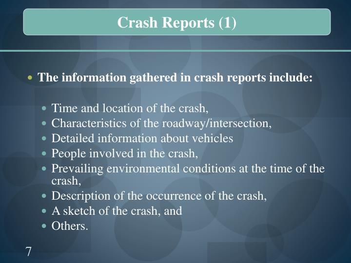 Crash Reports (1)
