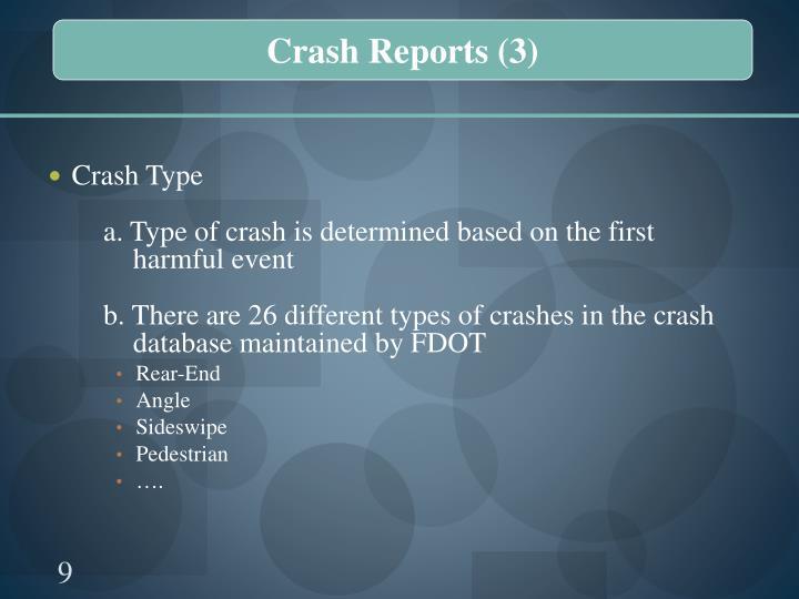 Crash Reports (3)