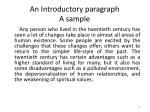 an introductory paragraph a sample