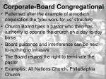 corporate board congregational1