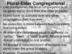 plural elder congregational
