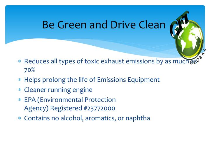 BeGreen and Drive Clean