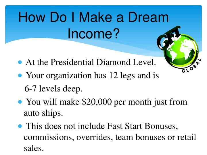 How Do I Make a Dream Income?