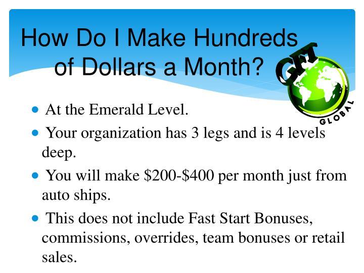 How Do I Make Hundreds of Dollars a Month?