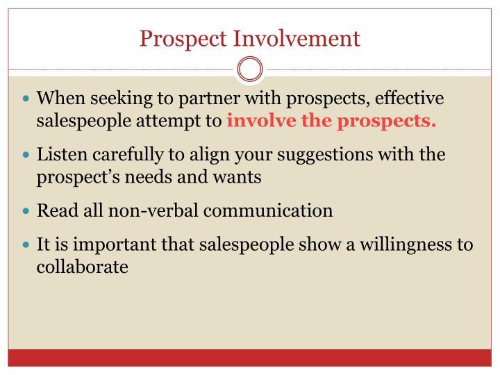 Prospect Involvement