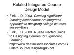 related integrated course design model