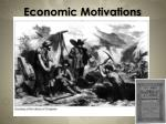 economic motivations