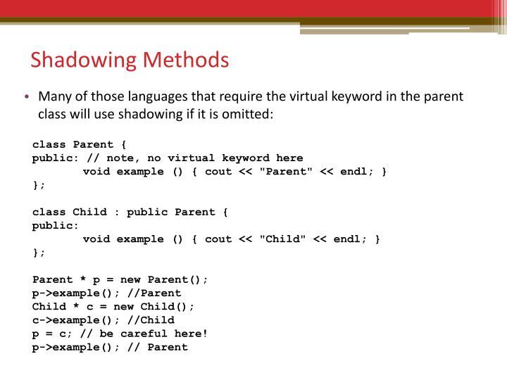 Shadowing Methods