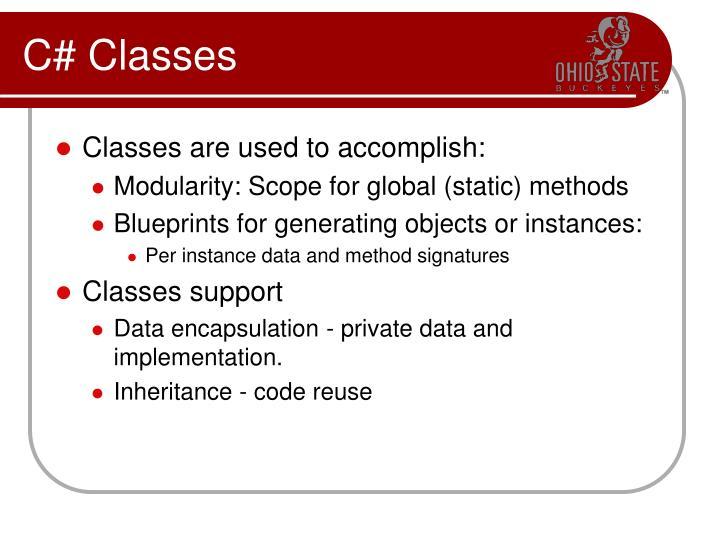 C classes