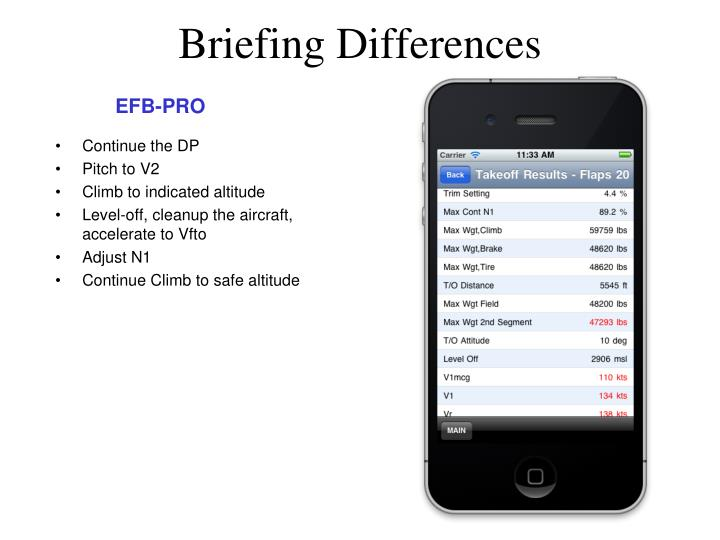 Briefing Differences