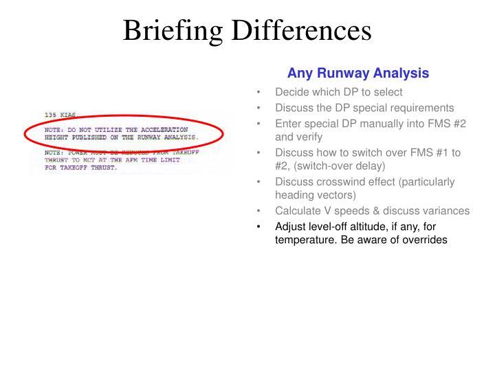 Any Runway Analysis