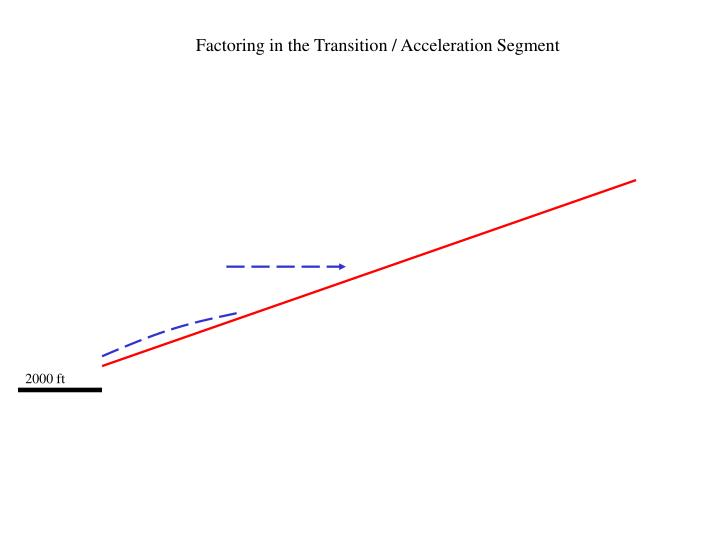 Factoring in the Transition / Acceleration Segment