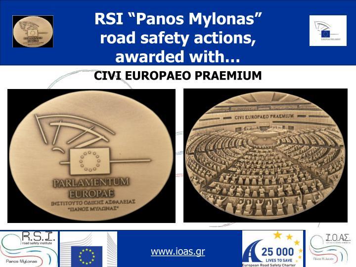 """RSI """"Panos Mylonas"""""""