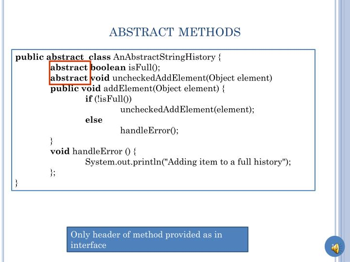 abstract methods