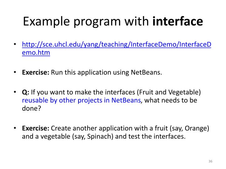 Example program with