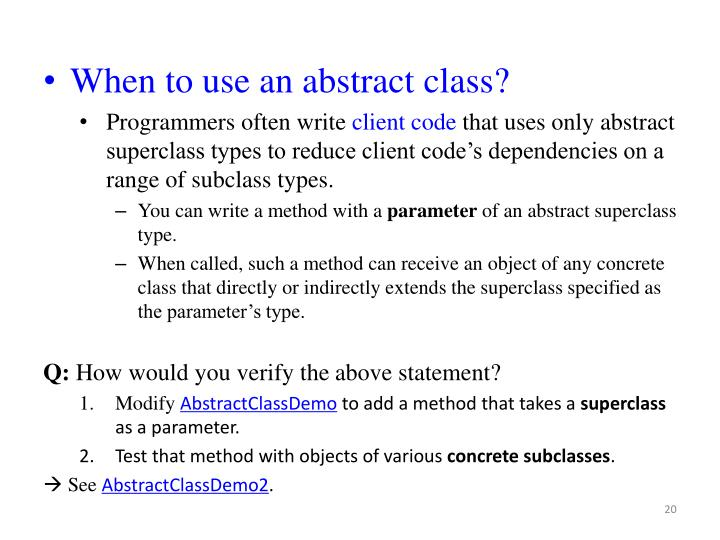 When to use an abstract class?