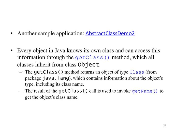 Another sample application: