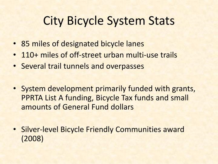 City Bicycle System Stats