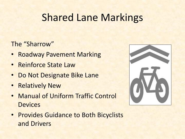 Shared lane markings