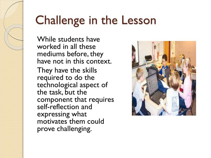 Challenge in the Lesson