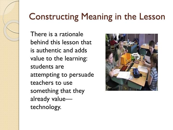 Constructing Meaning in the Lesson