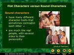 flat characters versus round characters1