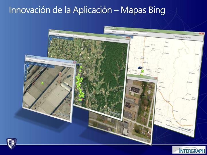 Innovación de la Aplicación – Mapas