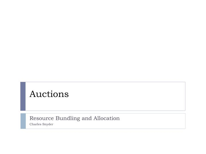 auctions n.