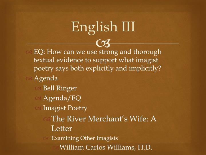 English III