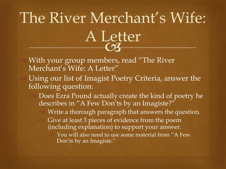 The River Merchant's Wife: A Letter